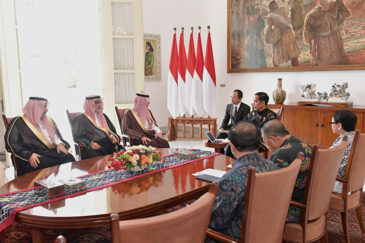 Presiden Jokowi Terima Kunjungan Menlu Arab Saudi di Istana Bogor
