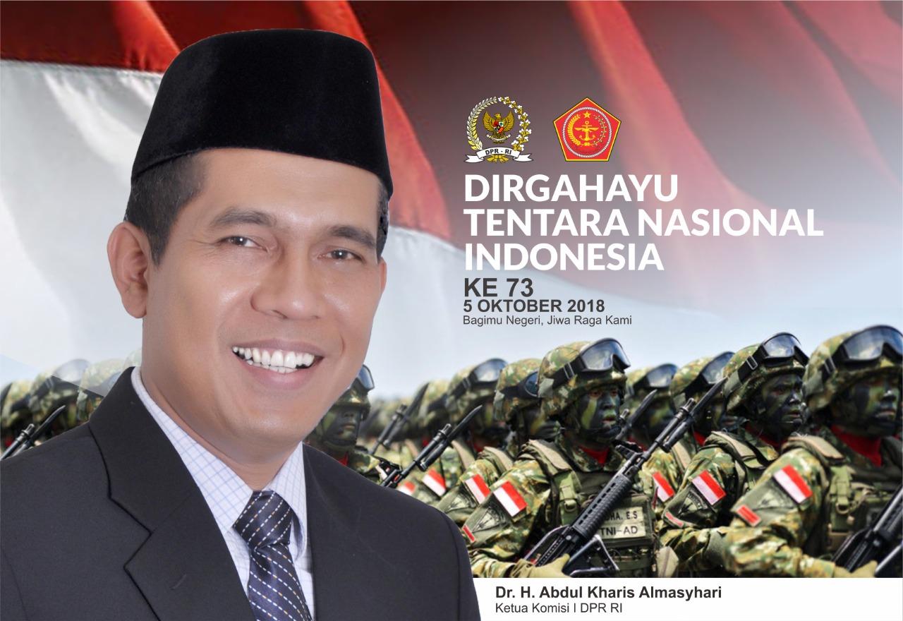 TNI Manunggal Bersama Rakyat, Abdul Kharis: Dirgahayu TNI LX
