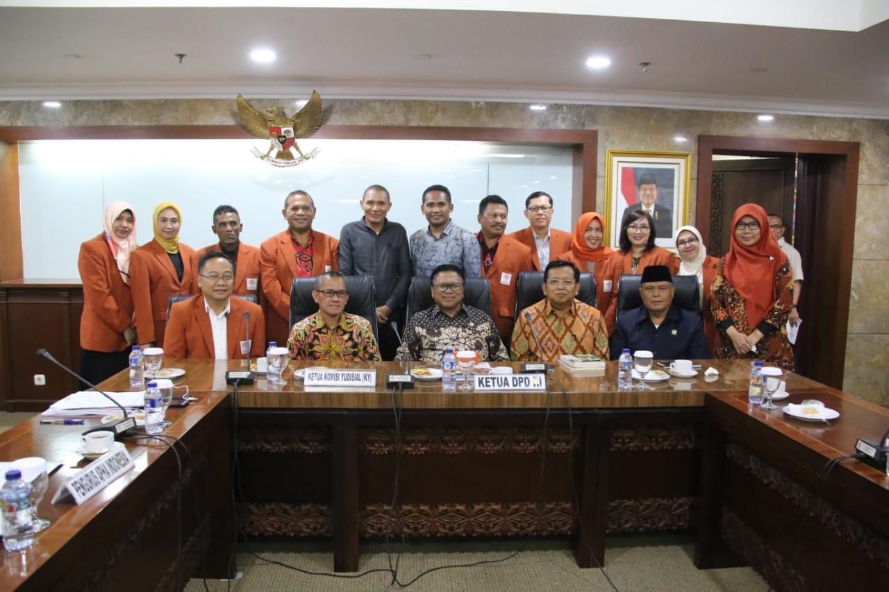 DPD RI, Komisi Yudisial dan APHA Bahas Eksistensi Hukum Adat