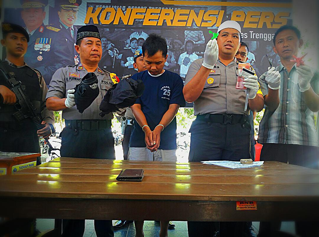 Polres Trenggalek Ungkap Kasus Curas Kurang dari 24 Jam
