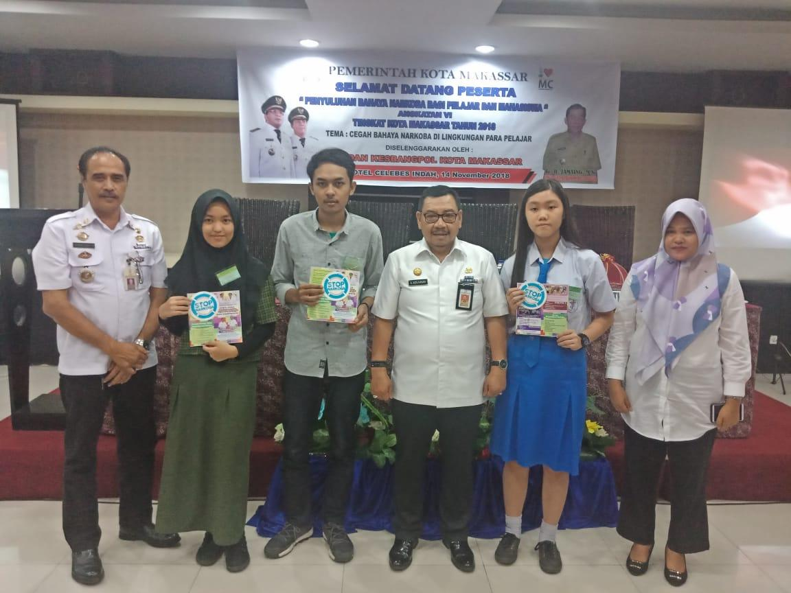 Kesbangpol Makassar Imbau Pelajar Jahui Narkoba.