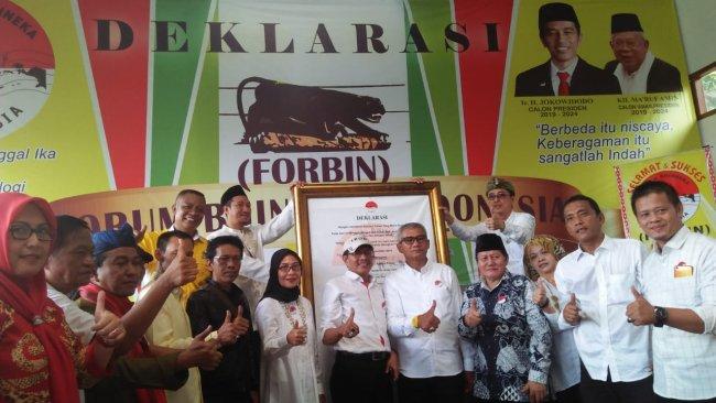 Dukung Jokowi-Amin, Agun Berharap Forbin Mampu Jaga Keberagaman Indonesia