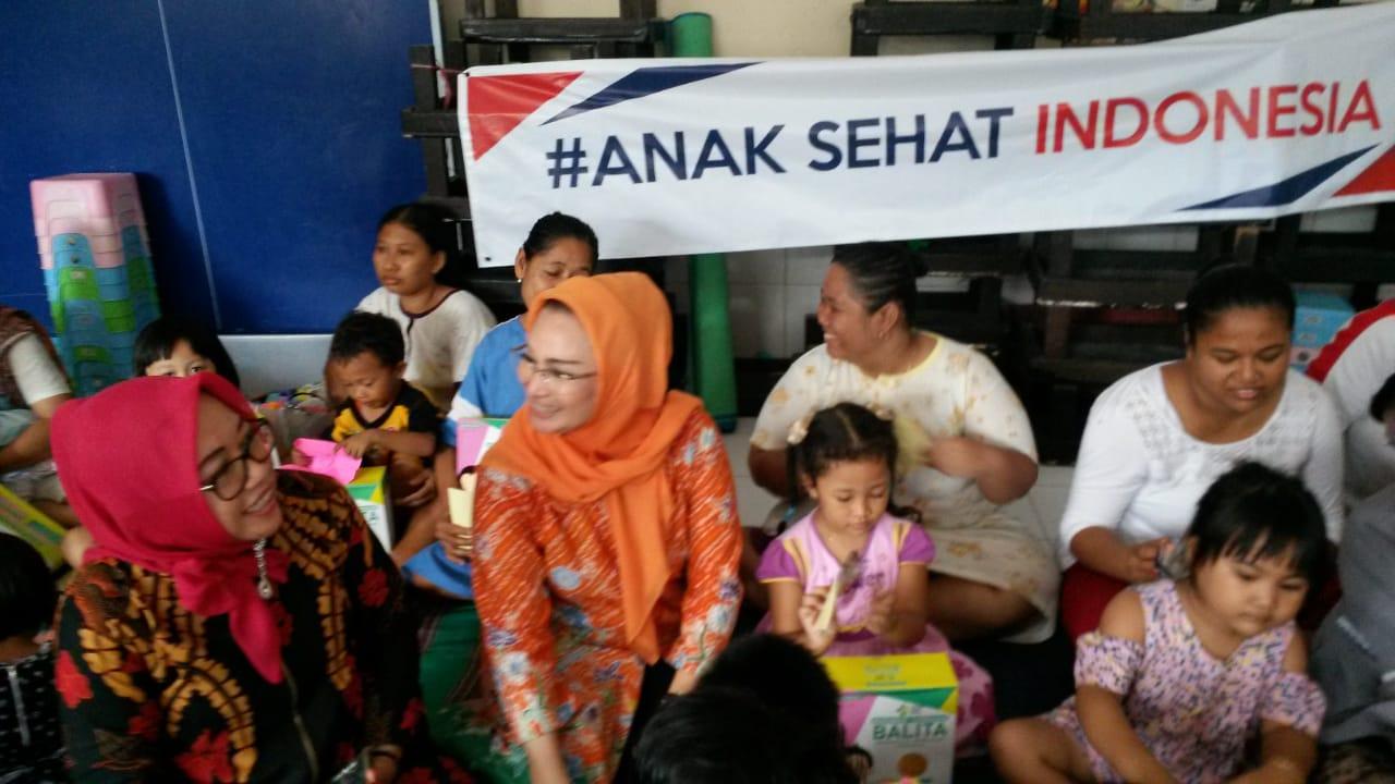 Bantu Pemerintahan Jokowi Atasi Gizi Buruk, Lucy Luncurkan Anak Sehat Indonesia