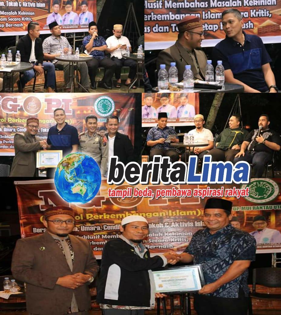 Kadis Kominfo Labuhanbatu 'NGOPI' Bareng Tokoh Aktivis Islam