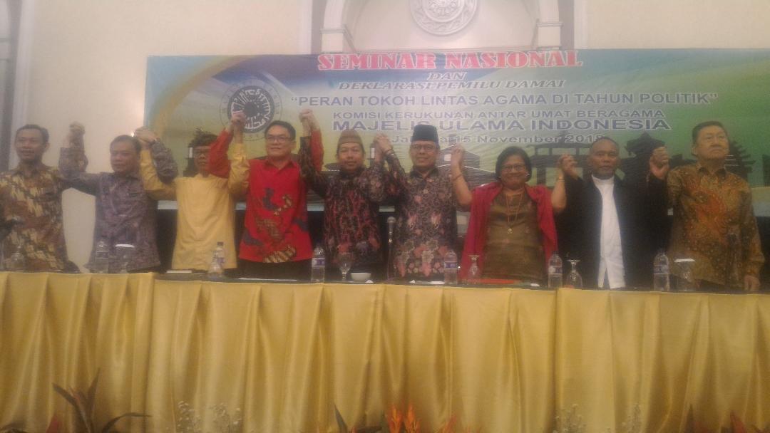 Seminar Dan Deklarasi Damai Tanpa Hoaks, Politisi Dilarang Menghujat