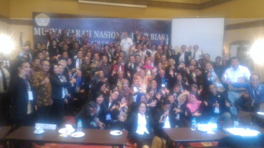 Hasil Munaslub AAI, Agar Konsen Pada Organisasi Advokat Sendiri