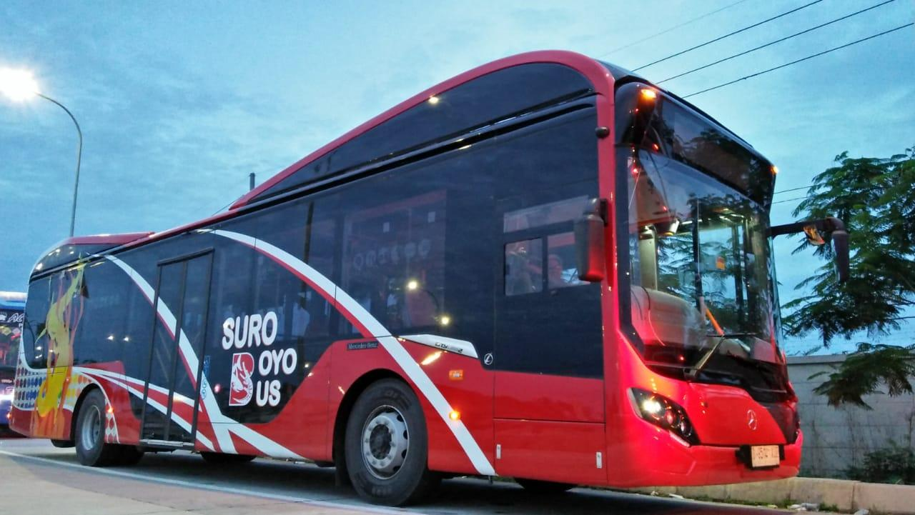 10 Unit Armada Suroboyo Bus Akhirnya Tiba di Surabaya