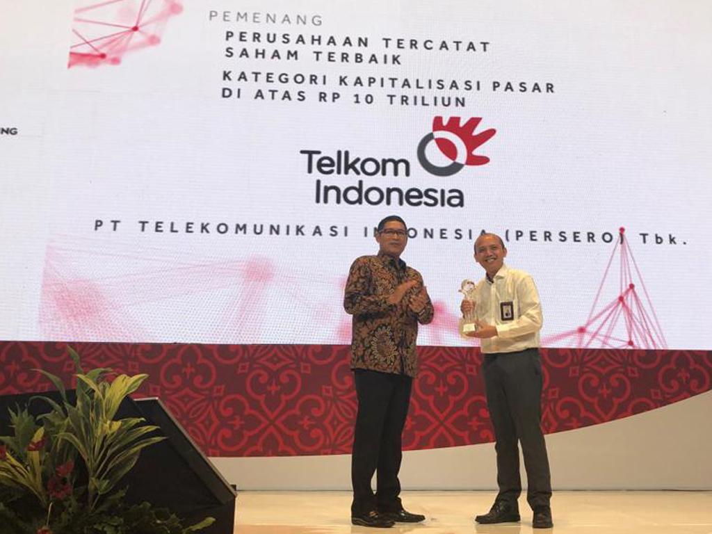 IDX Appreciation dari OJK dan BEI  Kinerja Telkom Dinilai Terbaik