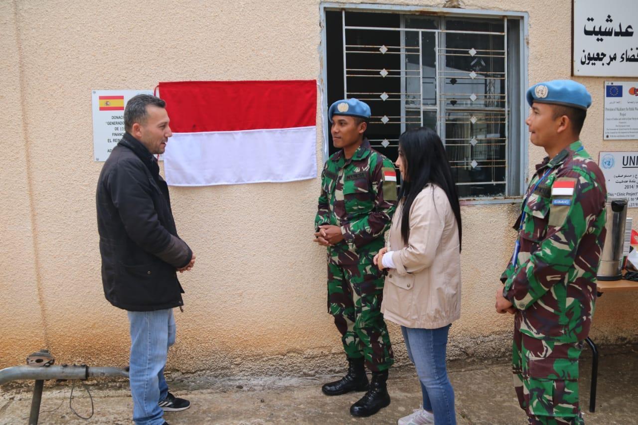 Kontingen Garuda XXIII-L/Unifil Sumbang Generator Untuk Warga Lebanon