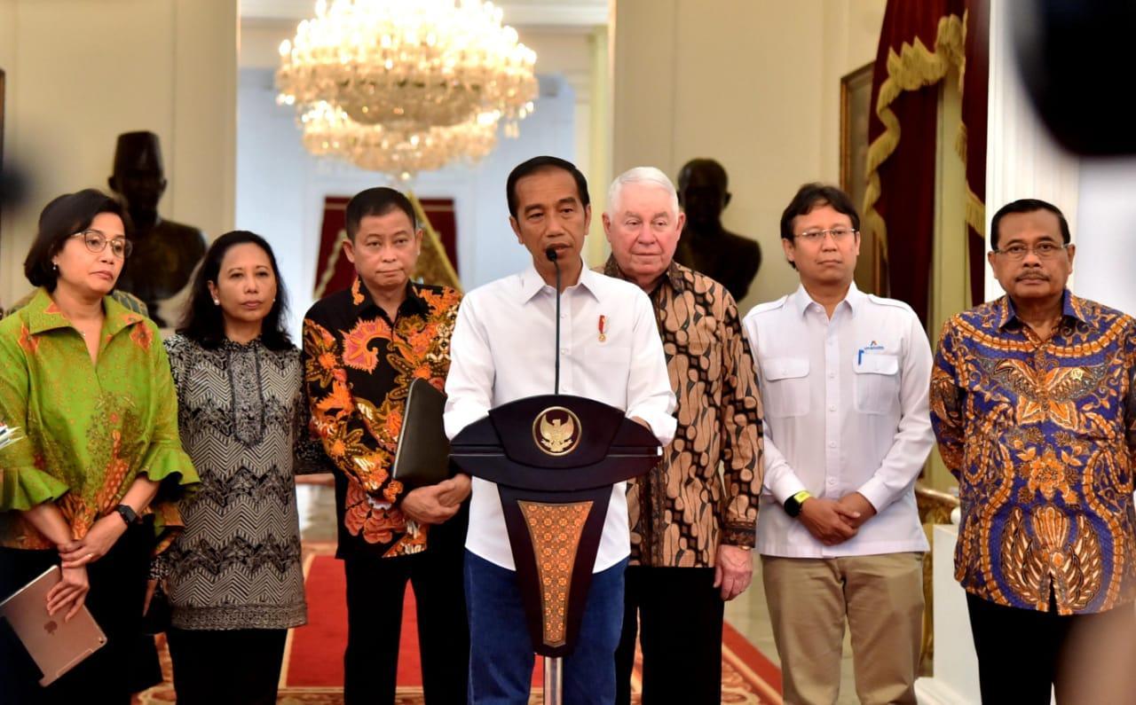 RI Resmi Kuasai 51% Saham Freeport, Presiden: Kita Gunakan untuk Kemakmuran Rakyat