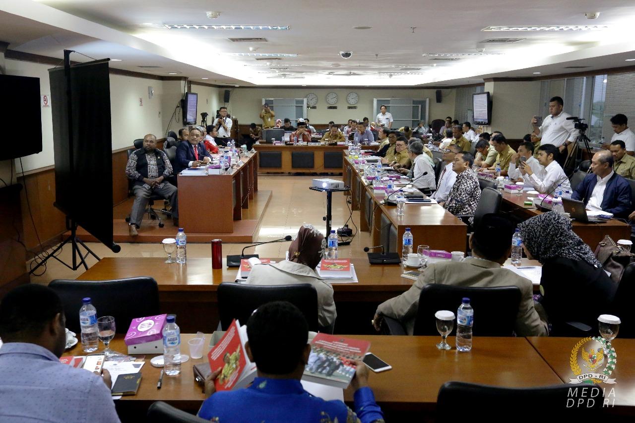 Komite I DPD RI Meminta Perpanjangan Masa Berlaku Dana Otsus