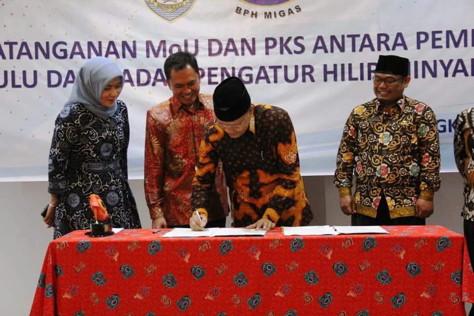 Penandatanganan MoU dan MoA antara BPH Migas dan Pemprov Bengkulu