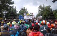 Ribuan Opang Tuntut Ojol Tidak Beroperasi di Wonosobo