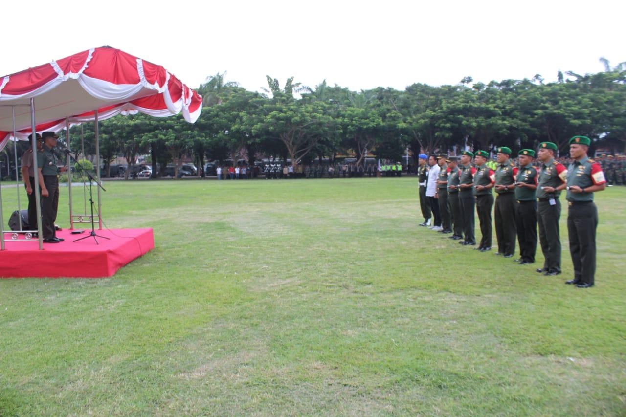 Danrem 083/Baladhika Jaya Pimpin Apel Pasukan Pengamanan Kunjungan Ibu Negara