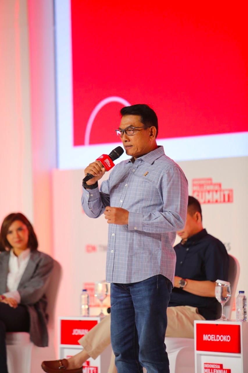 Di Indonesia Millenial Summit, Moeldoko Ajak Anak Muda Optimistis Songsong Indonesia Maju*