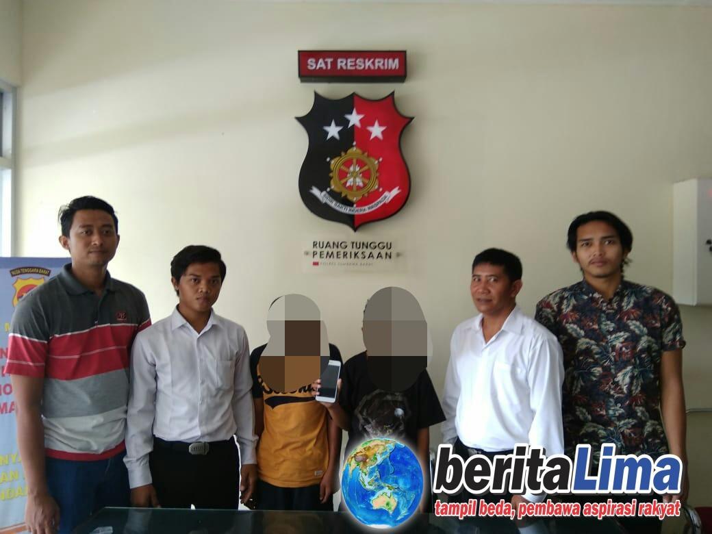 Polres Sumbawa Barat Mengamankan 2 Pelajar Diduga Pelaku Pencurian Hp