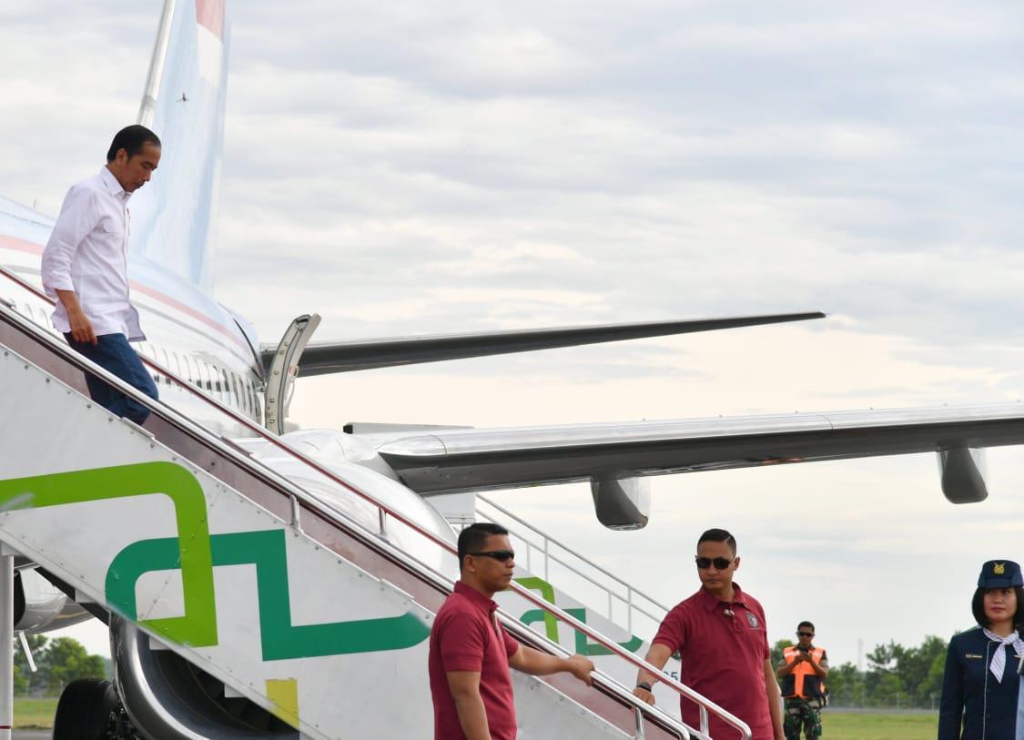 Presiden Tinjau Lokasi Terdampak Tsunami di Lampung