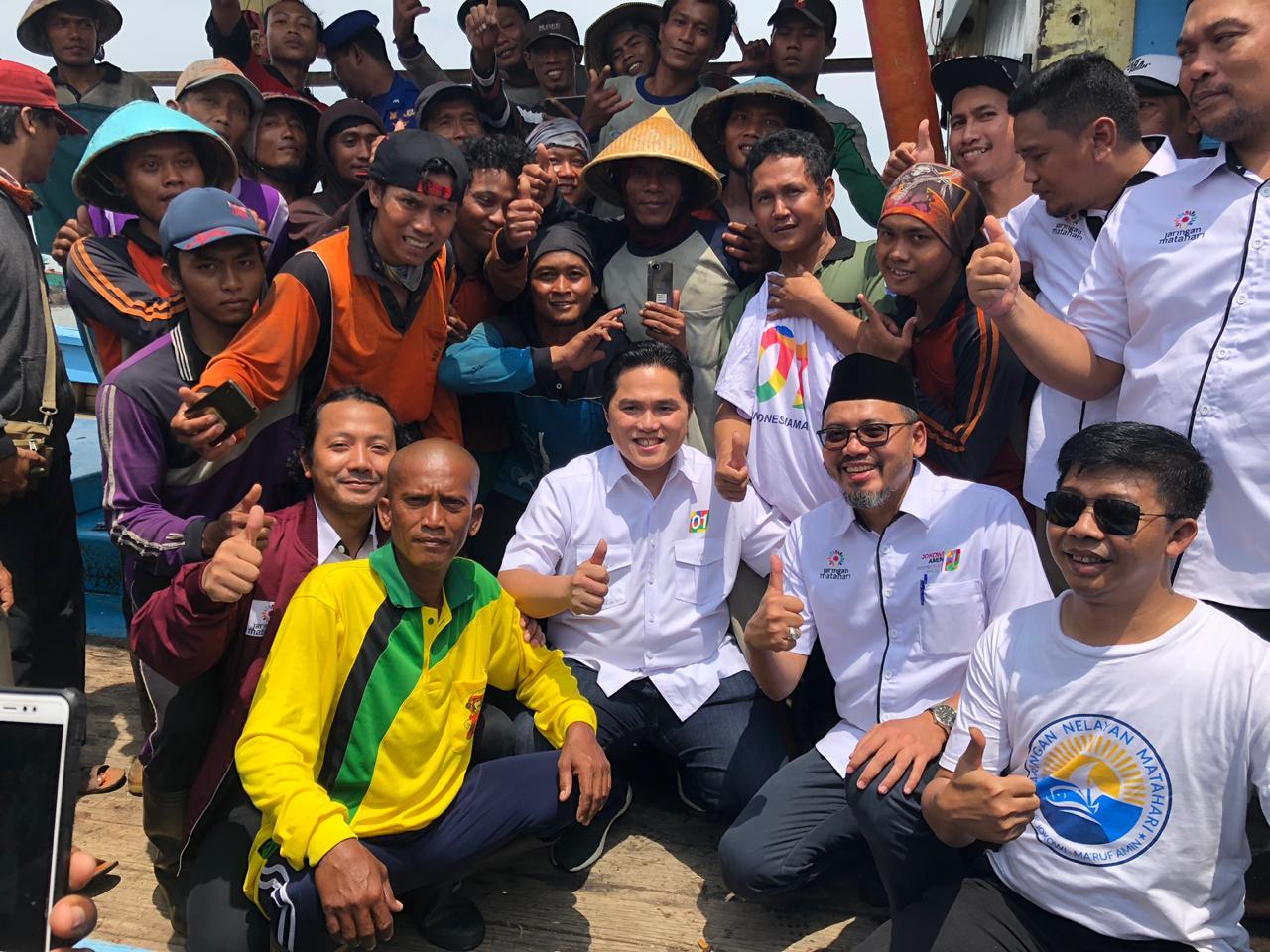 Ribuan Nelayan Pantura, Jawa dan Lampung Nyatakan Dukung Jokowi Amin