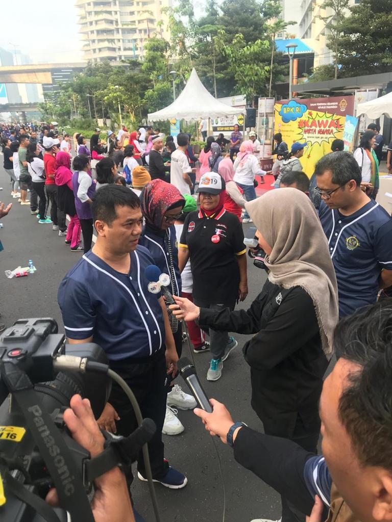 BPK, Kenalkan Tugas Kawal Harta Negara di Momen Hari Bebas Kendaraan