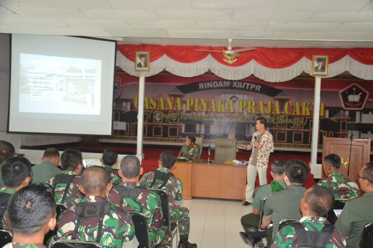 Danrindam XII/Tpr : Netralitas TNI Merupakan Amanah Konstitusi