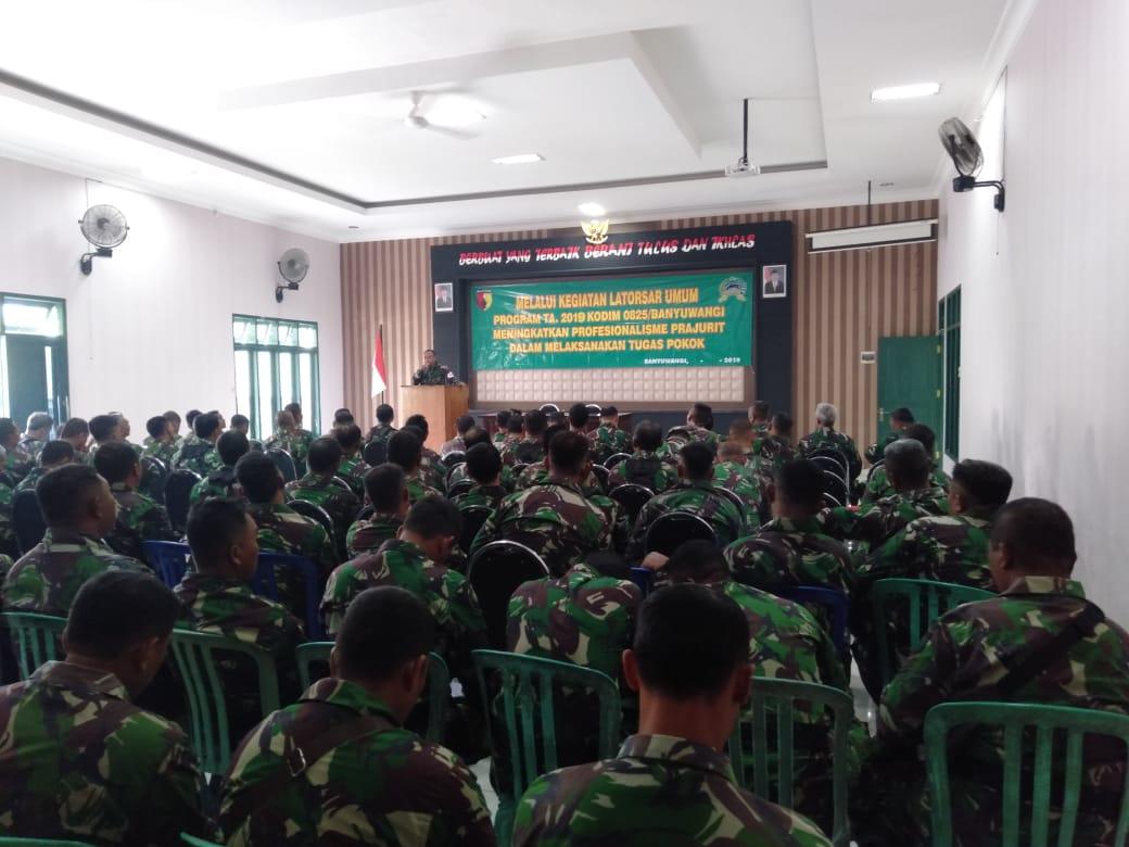 Kodim 0825 Banyuwangi Gelar Pelatihan Dasar LATOSAR Pada Jajaran