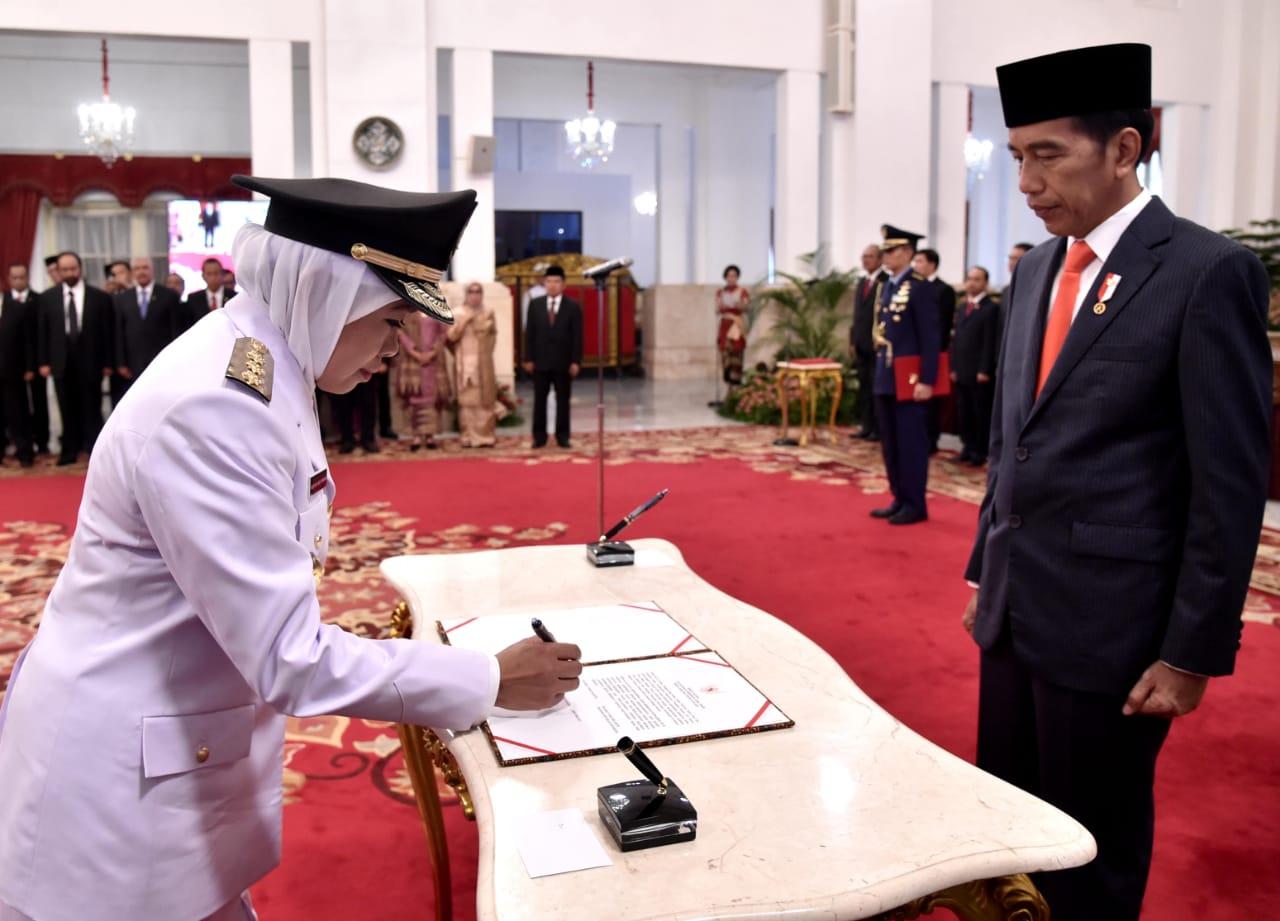 Presiden Lantik Gubernur dan Wagub Jatim