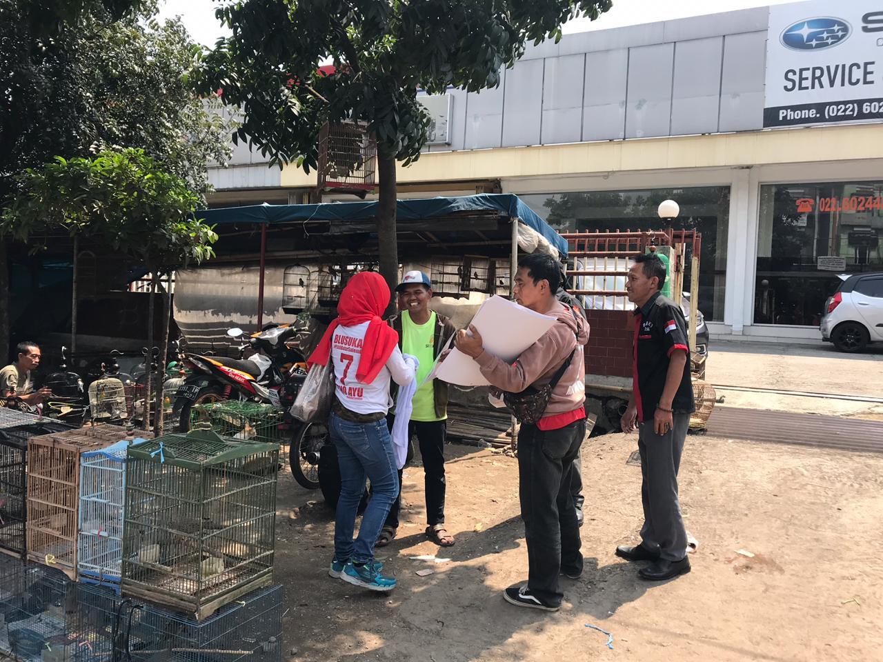 Muhammad Yamin Wadir: Relawan dan caleg bersatu blusukan di Bandung