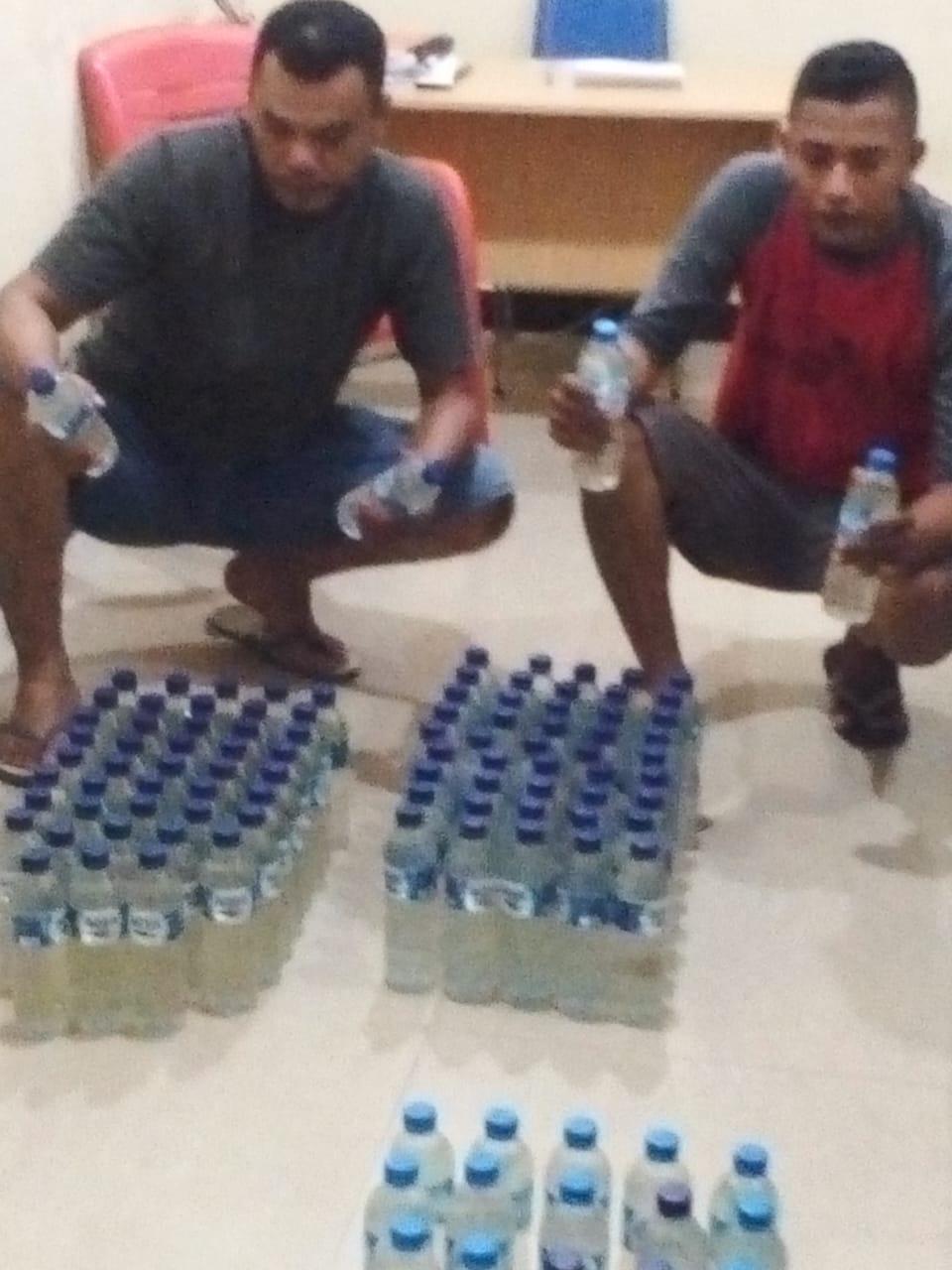 Polres Kepsul Kembali Amanman Miras 110 Botol