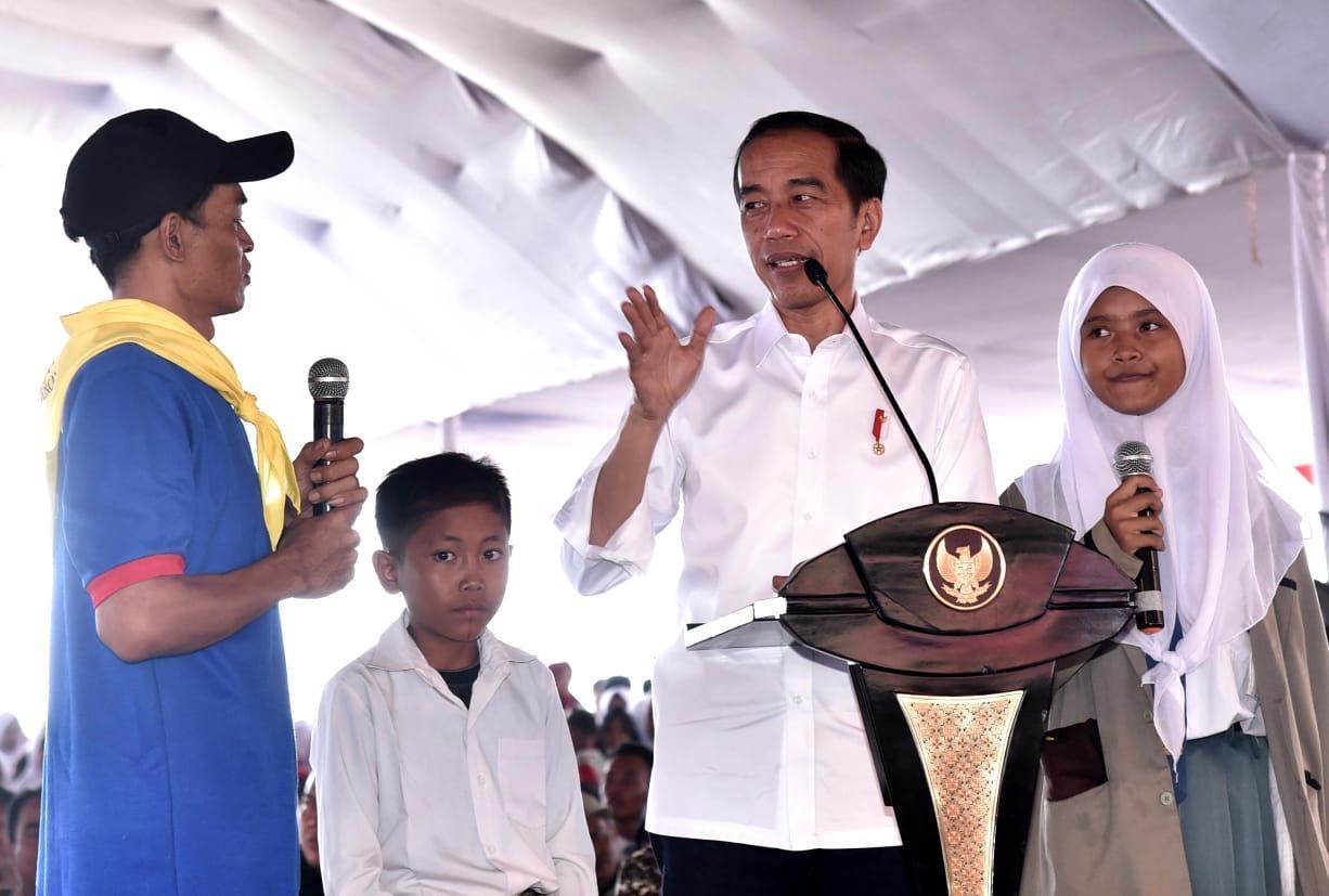 Presiden Tinjau Langsung Pendidikan Kebencanaan di Banten