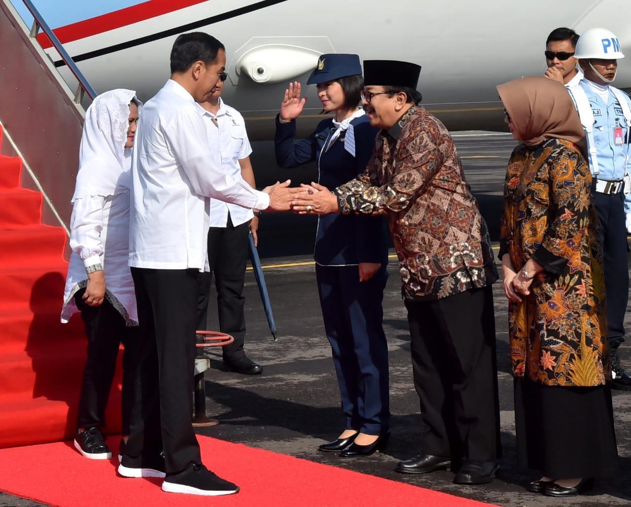 Presiden dan Ibu Negara Kunjungan Kerja ke Jatim dan Jateng