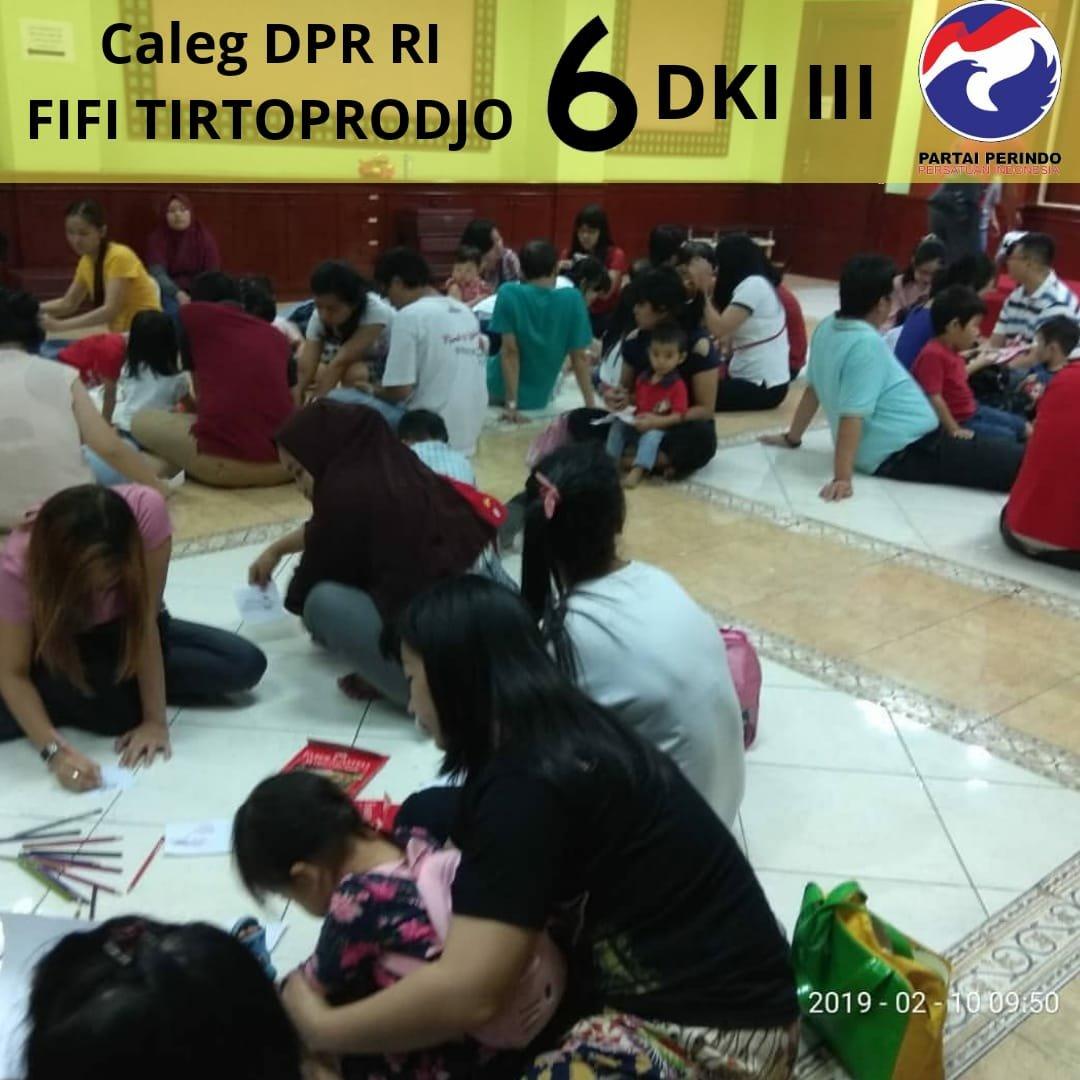 Fifi Tirtoprodjo Caleg DPR RI Dapil DKI III Bikin Rumah Anak