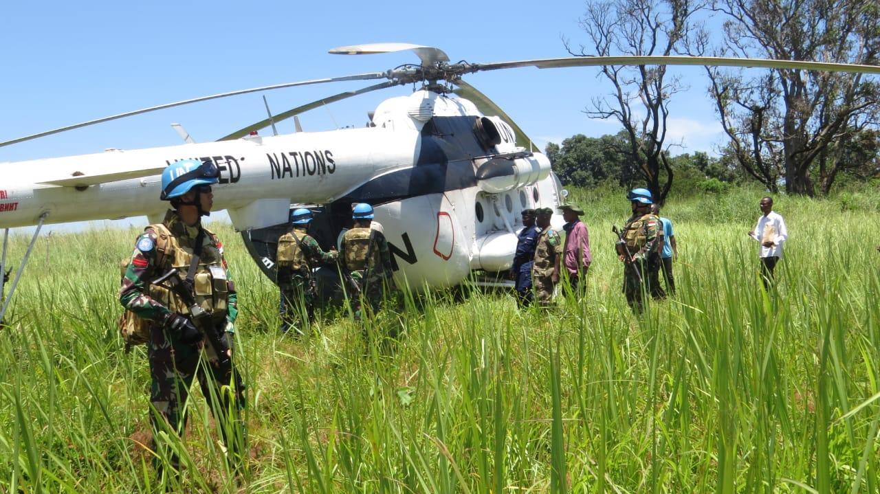 Satgas TNI Konga XXXIX-A RDB Monusco Gelar Joint Activity Mission Baraza