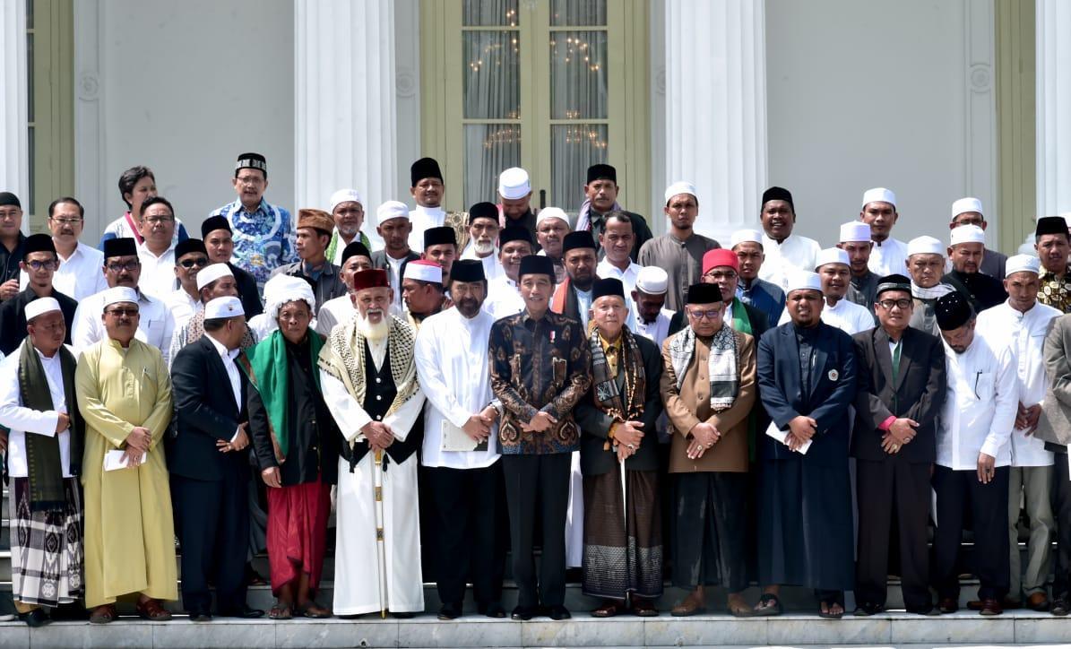 Bertemu Presiden, Ulama Aceh Sepakat Dukung Pemilu Damai