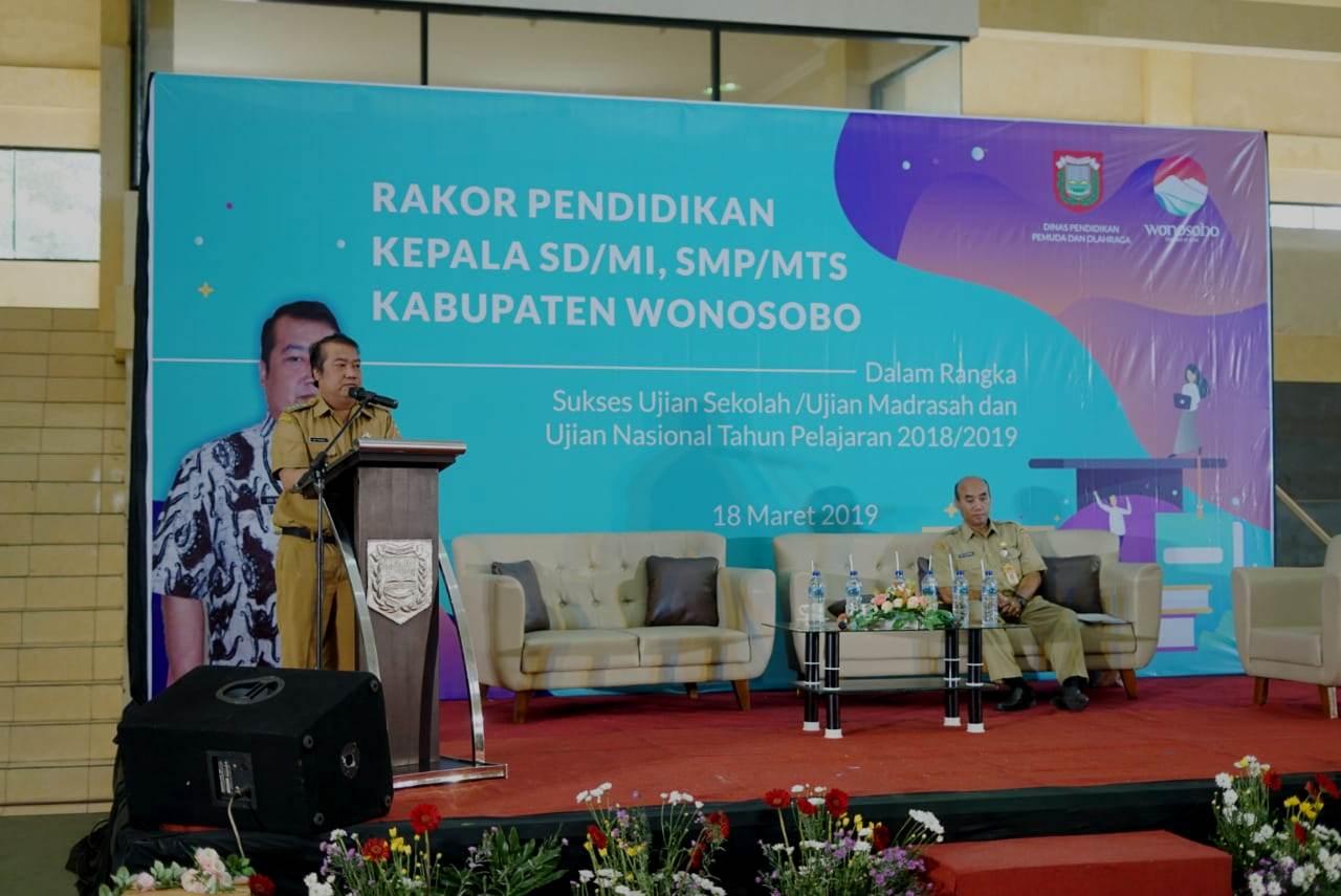 Dikpora Kabupaten Wonosobo Gelar Rakor Pendidikan Guna Sukseskan Ujian Sekolah dan Ujian Nasional