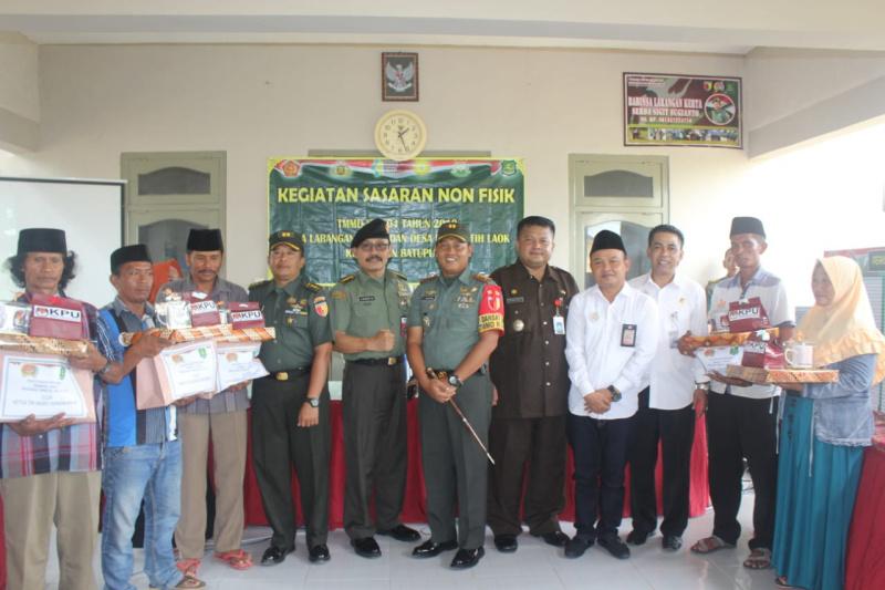 Perwira Kemhan Gelar Kunjungan Ke Lokasi TMMD di Sumenep