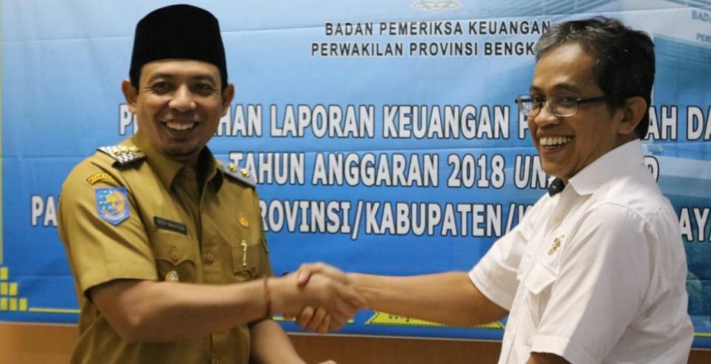 Pemkot Serahkan LKPD Tahun 2018 ke BPK Perwakilan Bengkulu