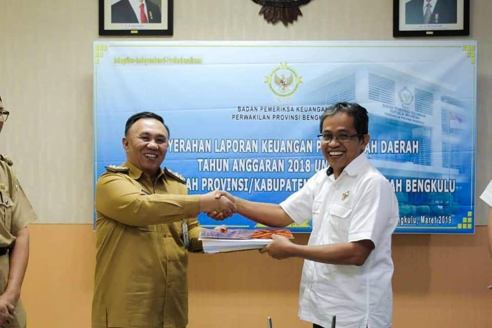 Pemprov Serahkan LKPD Tahun 2018 Ke BPK Perwakilan Bengkulu