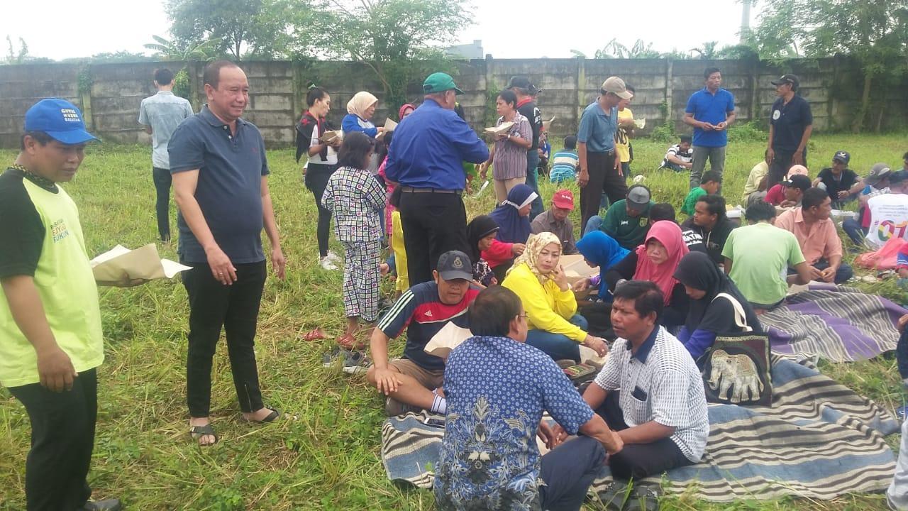 Wujudkan Kembalinya Lahan Fasum Olahraga, Pemuda Pancasila dan Warga Wiyung Surabaya Gelar Tasyakuran
