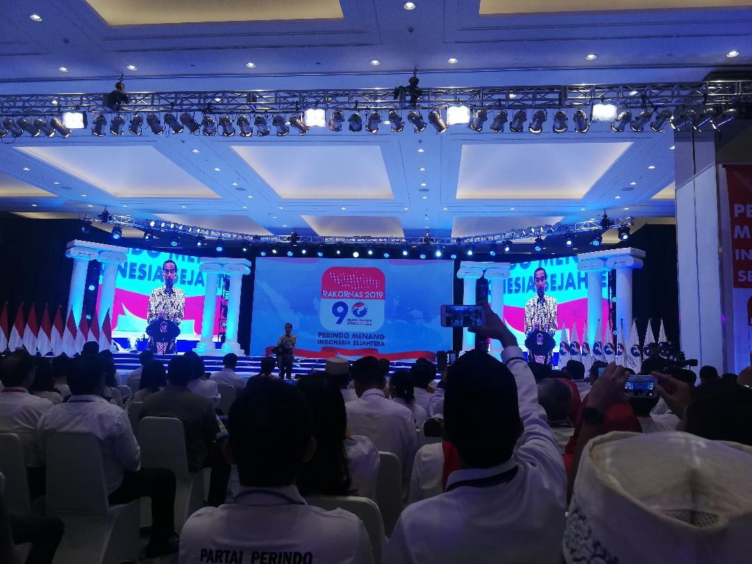 Bersama Menko Polhukam, Presiden Jokowi Hadir di Rakornas Perindo