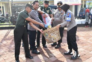 Simak Pesan Dandim Wonosobo pada Peringatan Hari Peduli Sampah Nasional,