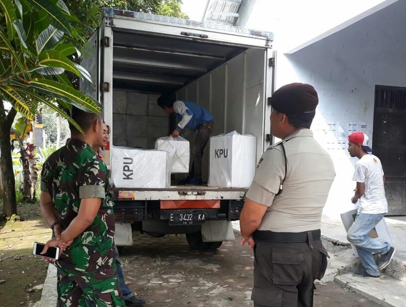 1130 Kotak Suara Hasil Pemilu 2019 Kepil Dikirim ke KPU