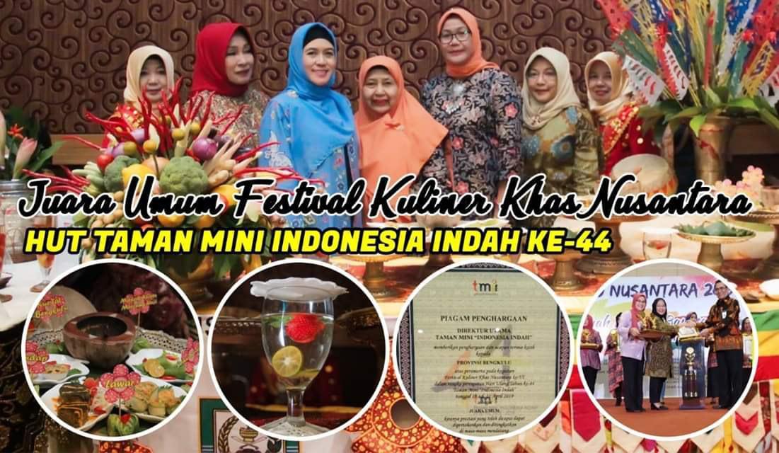 Bengkulu Raih Juara Umum Festival Kuliner Khas Nusantara VI di Jakarta