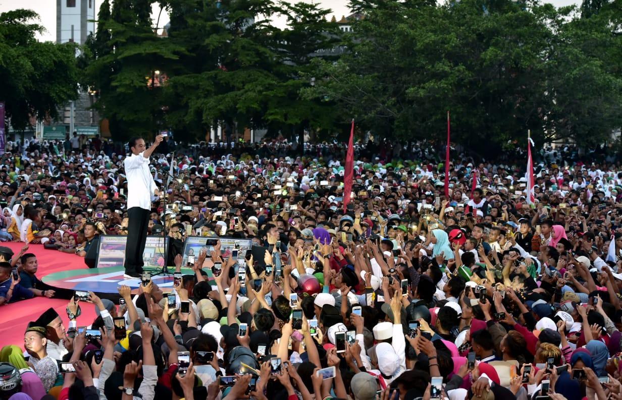 Capres #01 Jokowi Optimistis Raih 80 Persen Suara di Brebes