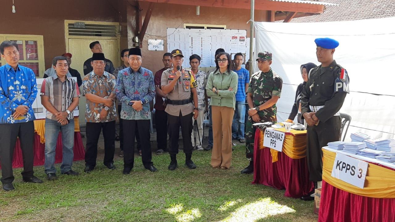 Pelaksanaan Pemilu 2019 di Lampung Utara Berjalan Aman, Damai dan Sejuk