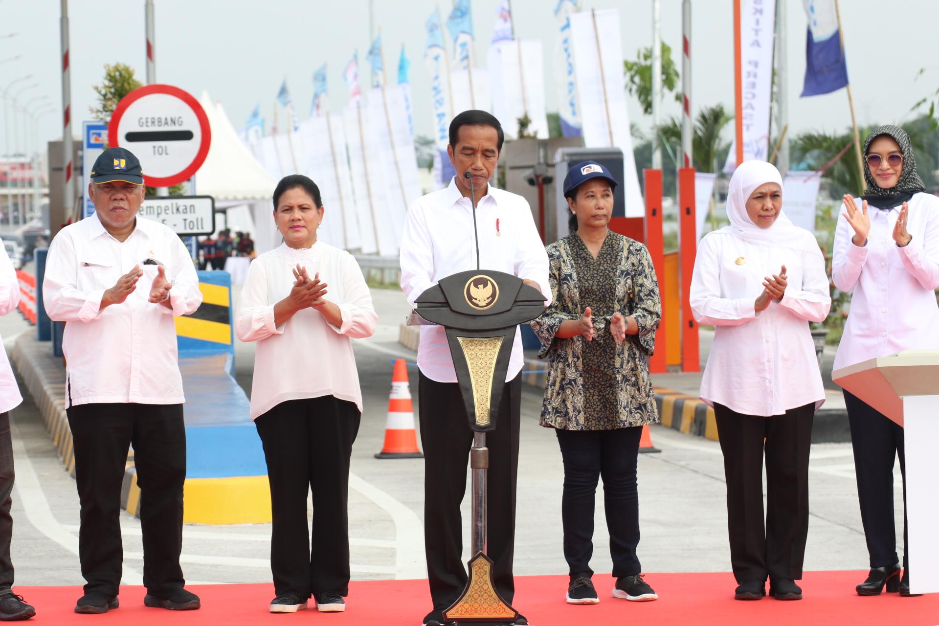 Gubernur Jatim Dampingi Presiden RI Resmikan Tol Pasuruan-Probolinggo Seksi I-III