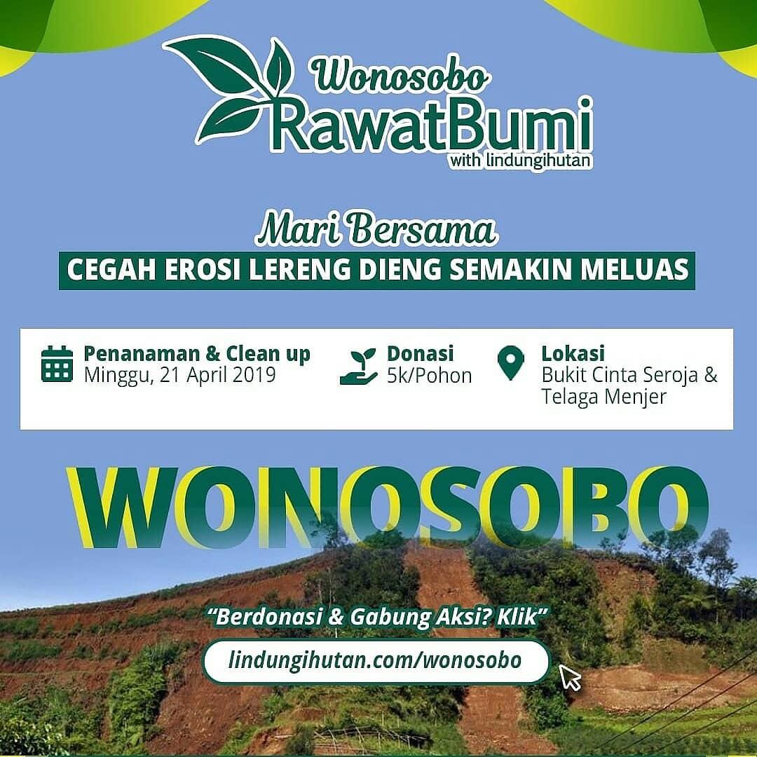 Ayo Ramaikan Wonosobo Rawat Bumi di Kawasan Wisata Telaga Menjer