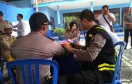 Urkeslap Polres Malang Periksa Kondisi Petugas Pengamanan Pemilu