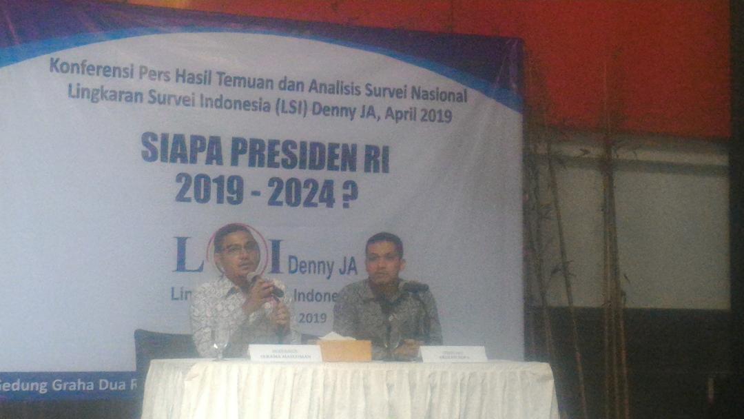 Hasil Rilis LSI Danny JA Unggulkan Jokowi Menang Telak