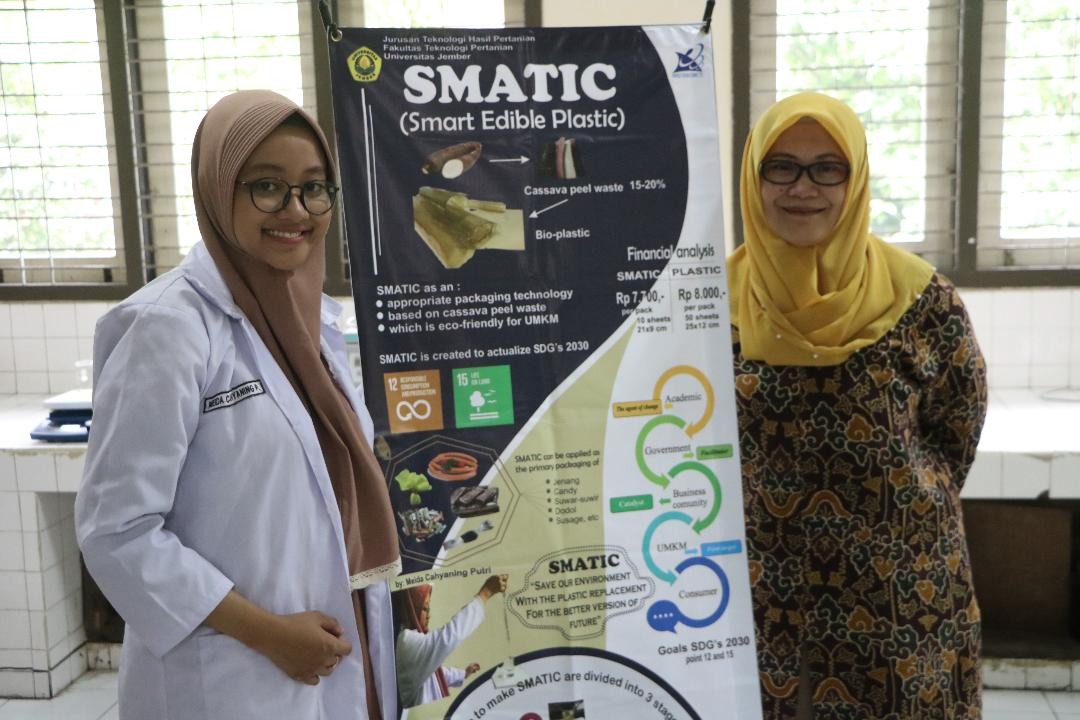 Kembangkan Plastik Dari Singkong, Meida Wakili Universitas Jember  ke Ajang Mahasiswa Berprestasi Nasional