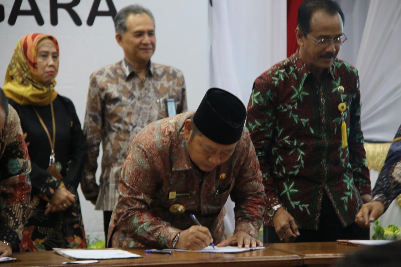 Pemkab Sidoarjo MoU Bersama Bank Jatim dan BPN, untuk Tingkatkan PAD